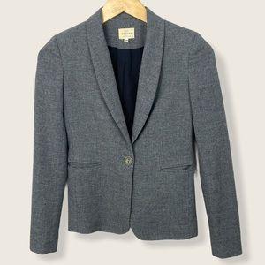 Sezane Wool Blazer Grey Single Button French Sz XS